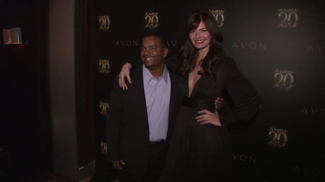 Alfonso Ribeiro and Paulina Porizkova at Avon ANEW 20th Birthday Event on in New York NY