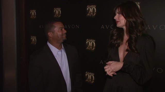 Alfonso Ribeiro and Paulina Porizkova at Avon ANEW 20th Birthday Event on in New York NY