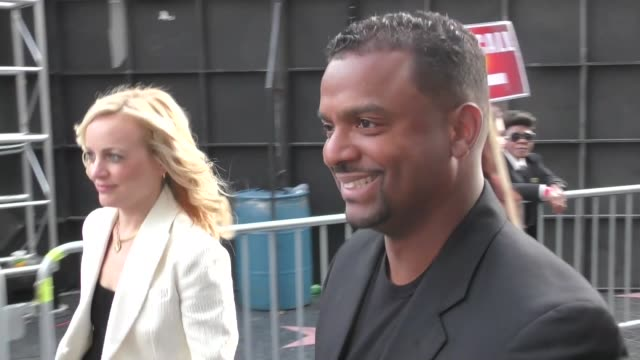 Alfonso Ribeiro Angela Unkrich son Alfonso Jr outside Solo A Star Wars Story premiere in Hollywood in Celebrity Sightings in Los Angeles