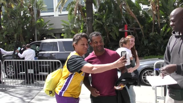 Alfonso Ribeiro arrives to Lakers Game at Staples Center in Los Angeles in Celebrity Sightings in Los Angeles