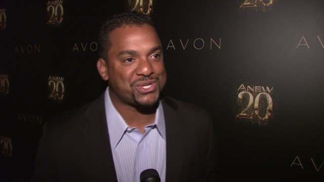 Alfonso Ribeiro on being a fan of Avon for many years at Avon ANEW 20th Birthday Event on in New York NY