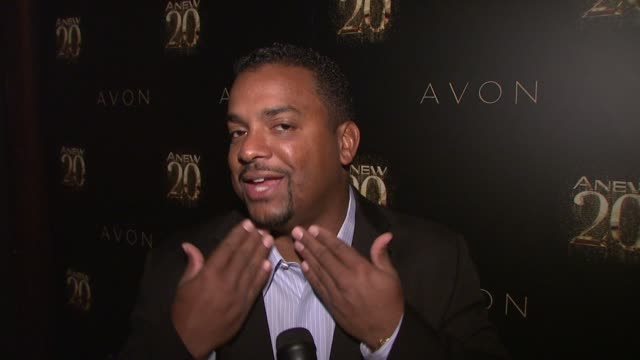 Alfonso Ribeiro on being out tonight to help celebrate ANEW's 20th birthday at Avon ANEW 20th Birthday Event on in New York NY