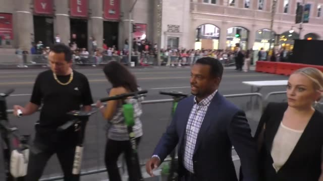 interview alfonso ribeiro on dancing with the stars outside the gemini man premiere at tcl chinese theatre in hollywood on october 06 2019 at... - dancing with the stars stock videos & royalty-free footage