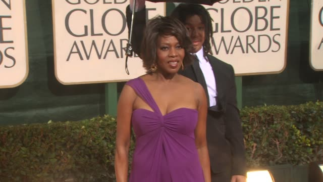 alfre woodard at the 67th annual golden globe awards arrivals part 3 at beverly hills ca - ゴールデングローブ賞点の映像素材/bロール