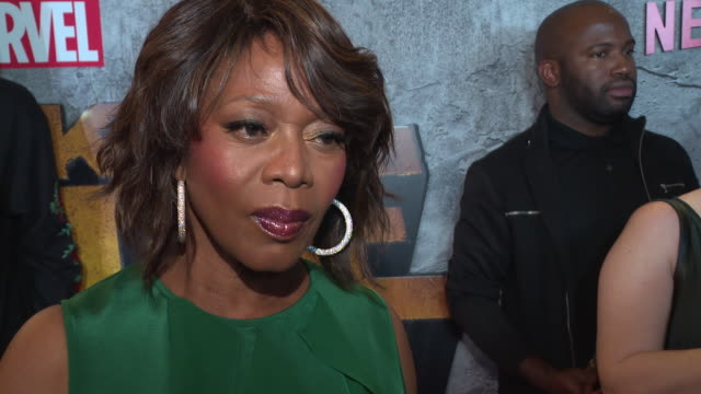 interview – alfre woodard on why it's important for us to watch a character like luke cage on screen right now and what she hopes young people will... - edison ballroom stock videos & royalty-free footage