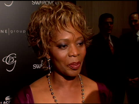 alfre woodard on why she is attending the event and how much of a part costume designers play in creating the world for the actor at the costume... - alfre woodard stock videos & royalty-free footage
