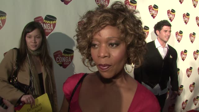 alfre woodard on why she wanted to support the conga room what she appreciates about latin culture the golden globe nominations at the conga room... - alfre woodard stock videos & royalty-free footage