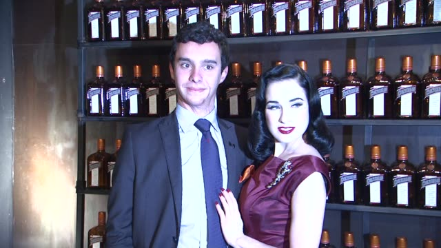 alfred cointreau dita von teese at la maison cointreau debuts in nyc with performance by dita von teese in newyork 10/15/12 - dita von teese stock videos & royalty-free footage