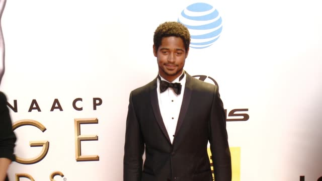 alfred enoch at 47th annual naacp image awards at pasadena civic auditorium on february 05 2016 in pasadena california - pasadena civic auditorium stock videos and b-roll footage