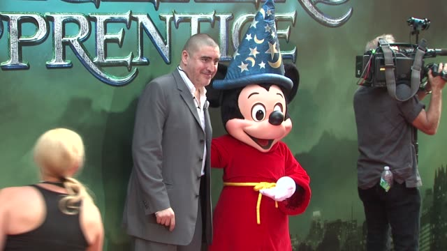 alfred molina and mickey mouse at the 'the sorcerer's apprentice' new york premiere arrivals at new york ny - alfred molina stock videos & royalty-free footage