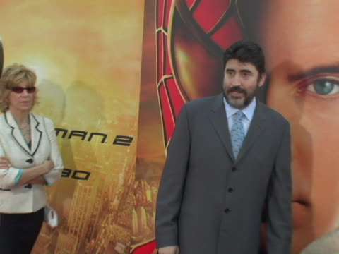 alfred molina at the spiderman 2 los angeles premiere arrivals at mann village in westwood california - alfred molina stock videos & royalty-free footage