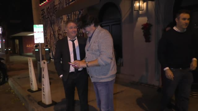 alfred molina signs for fans outside craig's restaurant in west hollywood in celebrity sightings in los angeles - alfred molina stock videos & royalty-free footage
