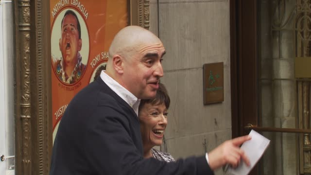 alfred molinaalfred molina and guest at the opening of 'lend me a tenor' arrivals at new york ny - lend me a tenor stock-videos und b-roll-filmmaterial