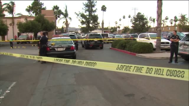 kswb alfred olango who was identified by family members at the scene was fatally shot at an el cajon strip mall - centro commerciale suburbano video stock e b–roll