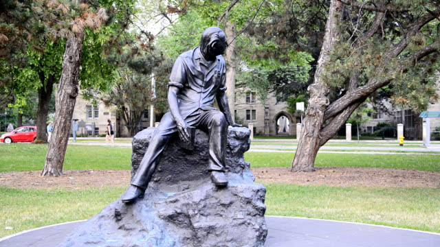 alfred purdy memorial in queen's park - poet stock videos & royalty-free footage