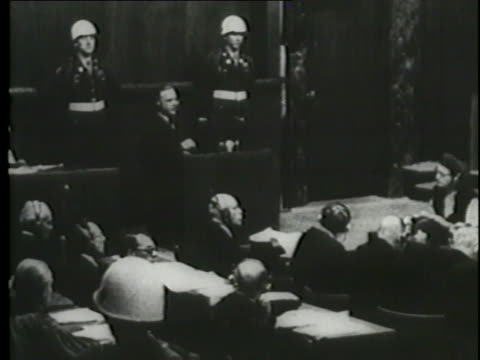 alfred rosenberg, erich raeder, and wilhelm keitel answer questions during the nuremberg trials. - nuremberg trials stock videos & royalty-free footage