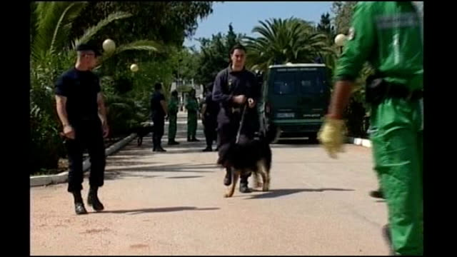 Algarve Praia da Luz EXT Portuguese search team along with sniffer dogs