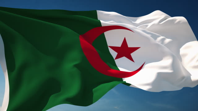 4K Algeria Flag - Loopable