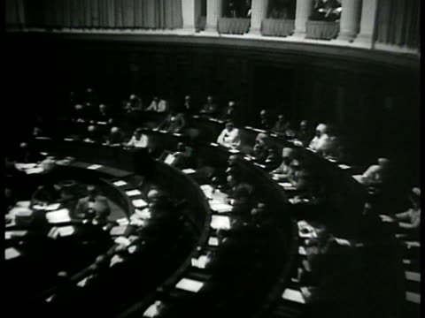 algeria government assembly in session ha ws chairman of assembly standing talking algiers - 1937 stock videos and b-roll footage