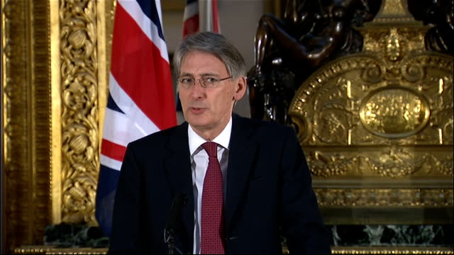 further british workers feared dead england london int philip hammond mp statement sot the latest information that we have is that the hostage... - アルジェリア人質事件点の映像素材/bロール