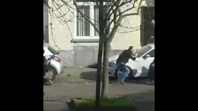 Algerian national Mohamed Belkaid named as man killed in raid **Footage bought from eyewitness by Channel 4 News MUST **Seen through window** Armed...