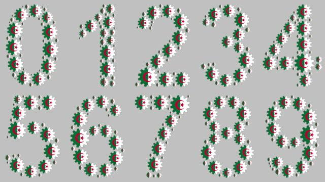 vídeos de stock e filmes b-roll de algerian numbers set - número 4