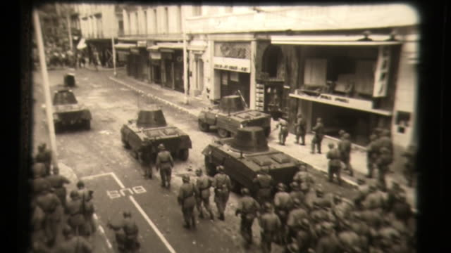 algerian war -algerian people riot in the streets, french soldiers - religion stock videos & royalty-free footage