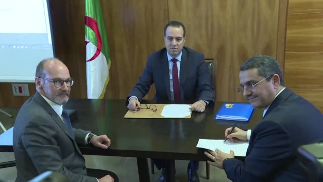 algeria's sonatrach and french oil group total ratify the creation of a joint company step which will build and operate the first polypropylene... - polypropylene stock videos and b-roll footage
