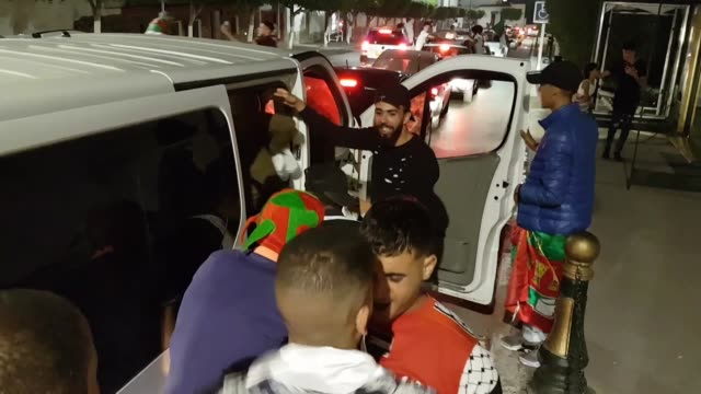algeria's supporters wave the algerian national flag as they celebrate on the streets of algiers after algeria won 10 the 2019 africa cup of nations... - nigerian flag stock videos & royalty-free footage