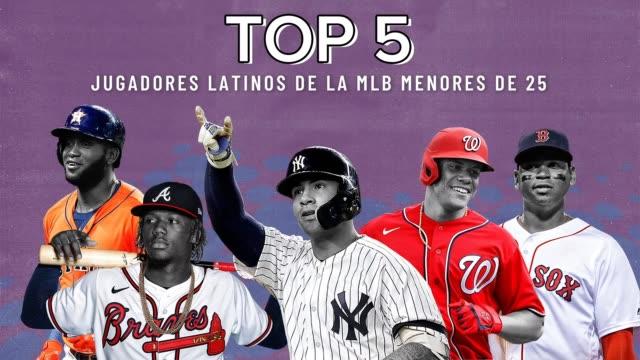 vídeos de stock e filmes b-roll de algunas de las más grandes estrellas en las grandes ligas provienen de américa latina. aquí un vistazo a cinco jóvenes latinos que están rompiendo... - maior