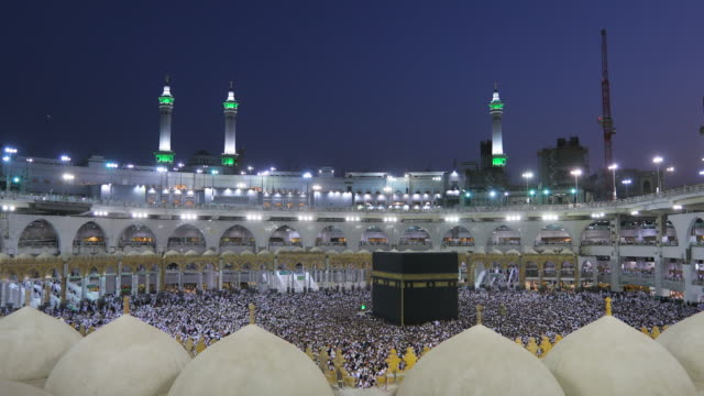 al-haram the most famous mosque in the world - hajj stock videos & royalty-free footage
