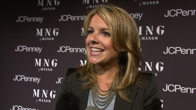 Ali Fedotowsky talking about her MNG Mango blazer at the Launch of MNG by Mango at JCPenney at New York NY