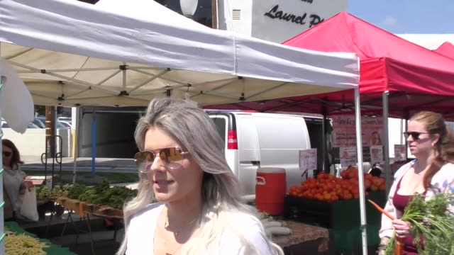 INTERVIEW Ali Fedotowsky talks about her Mother's Day while shopping at Farmer's Market in Studio City in Celebrity Sightings in Los Angeles