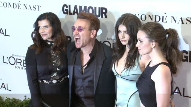 ali hewson, bono, eve hewson, jordan hewson at glamour's 2016 women of the year at neuehouse hollywood on november 14, 2016 in los angeles,... - glamour stock videos & royalty-free footage