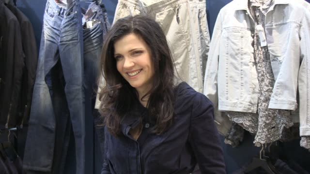 Ali Hewson poses for photos at the launch of her new range of EDUN clothing EDUN Clothing Ali Hewson at Selfridges on February 26 2011 in London...
