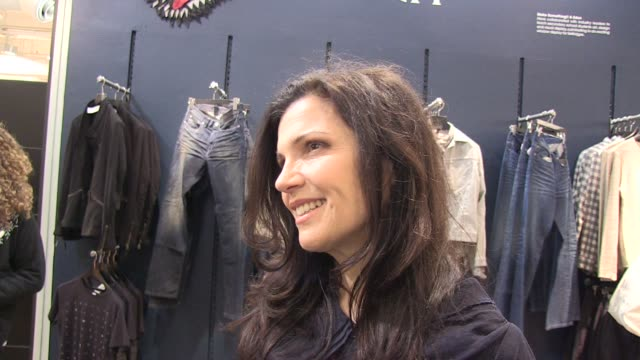 Ali Hewson talks about her new range of EDUN clothing charity work and husband Bono of U2 EDUN CLOTHING INTERVIEW Ali Hewson at Selfridges on March...