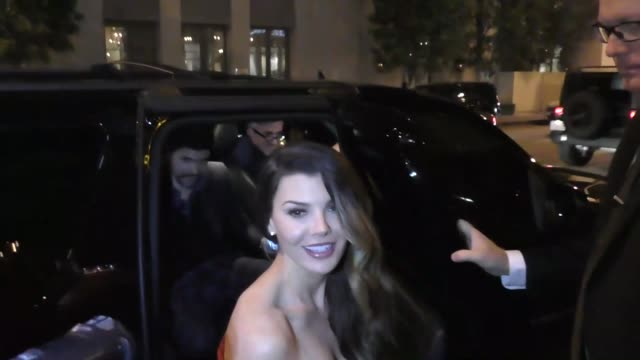 stockvideo's en b-roll-footage met ali landry and alejandro gomez monteverde outside catch la in west hollywood at celebrity sightings in los angeles on january 06 2017 in los angeles... - west hollywood