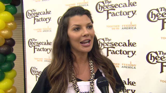 Ali Landry on getting involved in the community for charity at the The Cheesecake Factory Helps KickOff Feeding America's Hunger Action Month With...