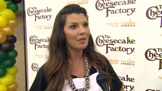 Ali Landry on the charity at the The Cheesecake Factory Helps KickOff Feeding America's Hunger Action Month With 300 Lunches at Maywood CA