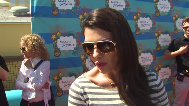 Ali Landry on why she wanted to be a part of the afternoon what she appreciates about the Make A Wish Foundation why giving back is important to her...