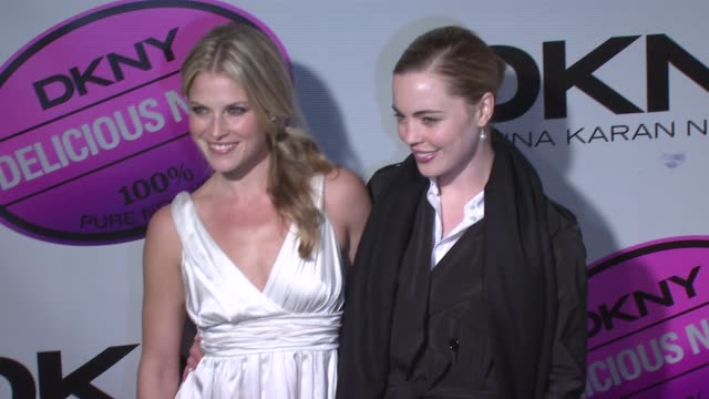ali larter and guest at the dkny delicious night fragrance launch party at 711 greenwich street in new york new york on november 7 2007 - ali larter stock videos & royalty-free footage