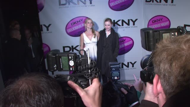 ali larter and guest at the dkny delicious night fragrance launch party at 711 greenwich street in new york new york on november 7 2007 - ali larter stock videos and b-roll footage