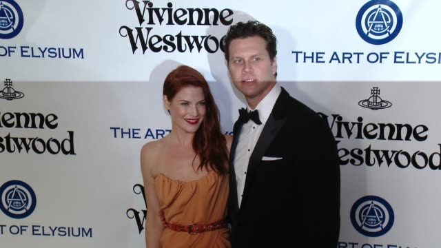 ali larter and hayes macarthur at the the art of elysium's ninth annual heaven gala at 3labs on january 9 2016 in culver city california - ali larter stock videos & royalty-free footage