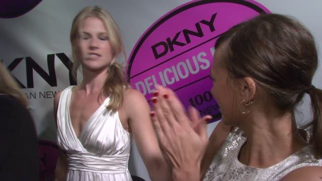 Ali Larter and Rashida Jones at the DKNY Delicious Night Fragrance Launch Party at 711 Greenwich Street in New York New York on November 7 2007