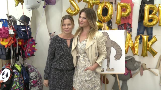 ali larter and susan kaiser greenland at the ali larter hosts stop breathe think kids app launch at rabbit ladders on may 6 2017 in culver city... - ali larter stock videos & royalty-free footage