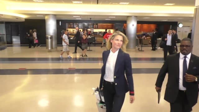 ali larter arriving at lax airport in los angeles in celebrity sightings in los angeles - ali larter stock videos & royalty-free footage