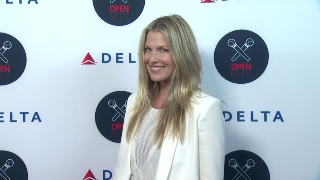 ali larter at 2nd annual delta open mic with serena williams at arena event space on august 26 2015 in new york city - ali larter stock videos and b-roll footage