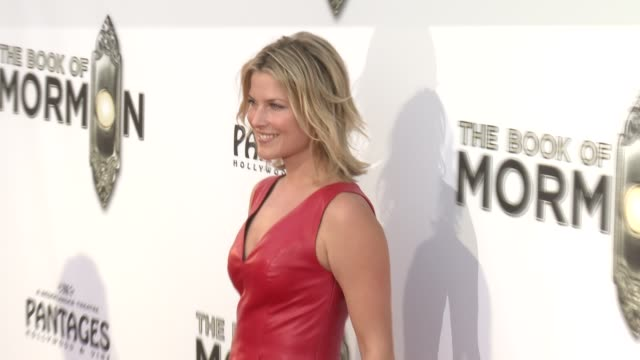 ali larter at the book of mormon los angeles opening night on 9/12/12 in los angeles ca - ali larter stock videos & royalty-free footage