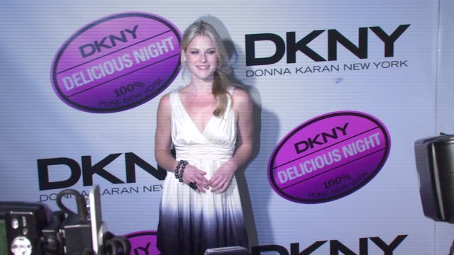 ali larter at the dkny delicious night fragrance launch party at 711 greenwich street in new york new york on november 7 2007 - ali larter stock videos and b-roll footage