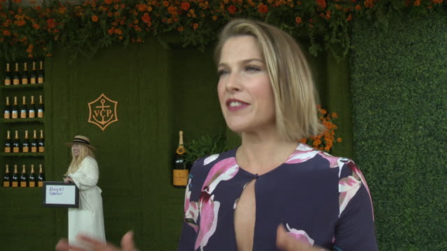 interview ali larter at the eighth annual veuve clicquot polo classic los angeles at will rogers state historic park on october 14 2017 in pacific... - ali larter stock videos and b-roll footage